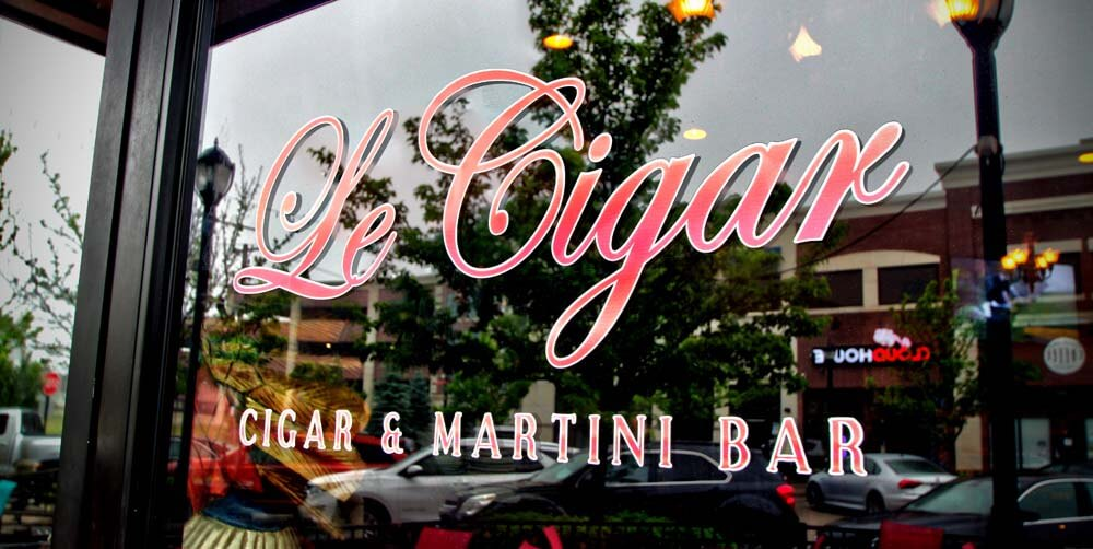 cigar martini bar door